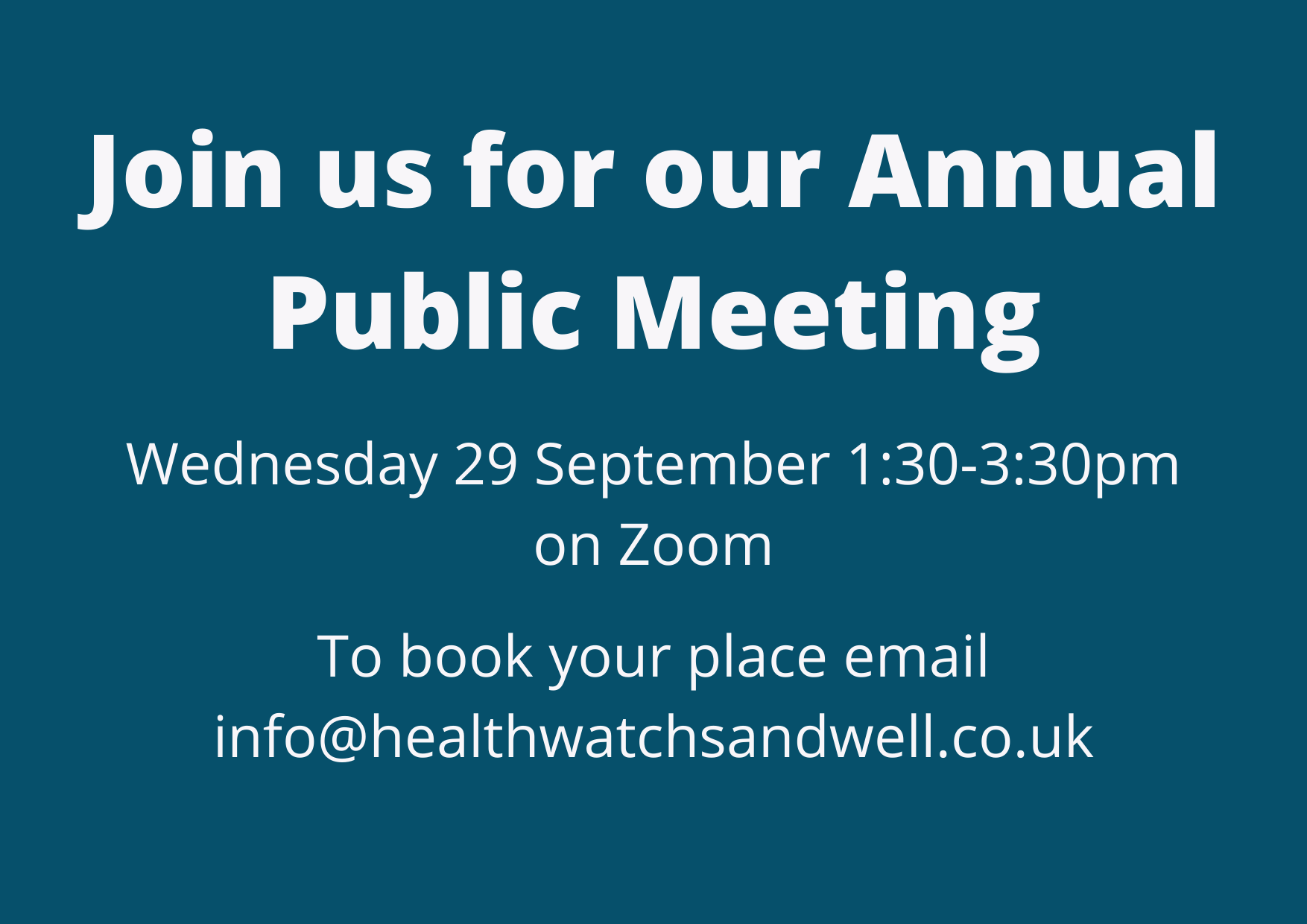 Join us for our Annual Public Meeting